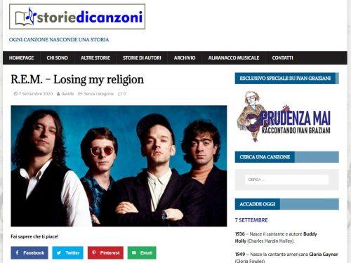 STORIE DI CANZONI: LOSING MY RELIGION
